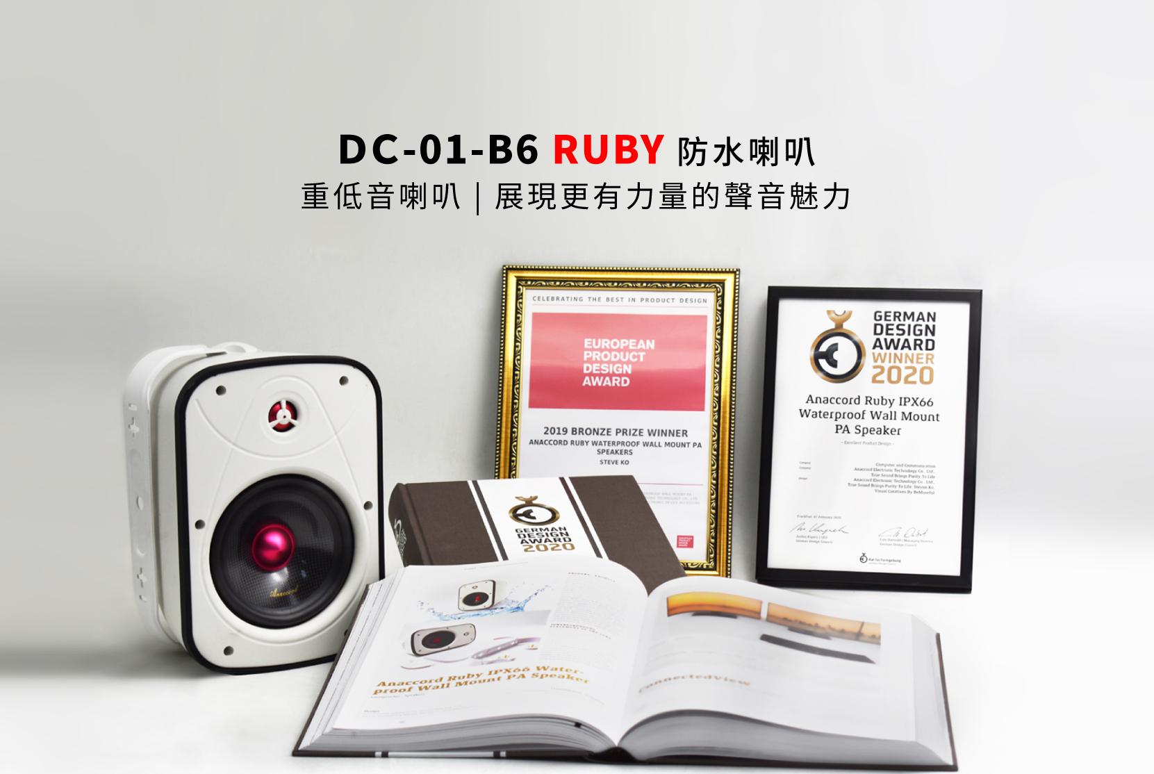 防水喇叭 重低音喇叭 DC-01-B6-RUBY