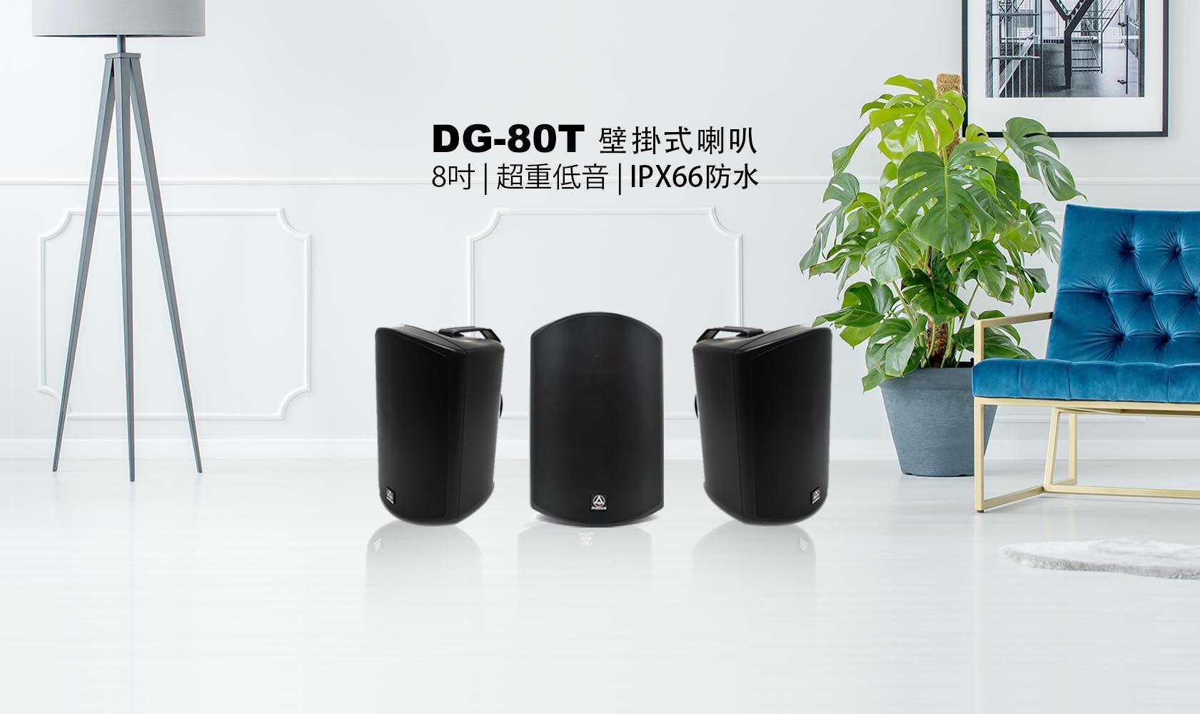 DG-80T-壁掛式喇叭-被動式重低音喇叭